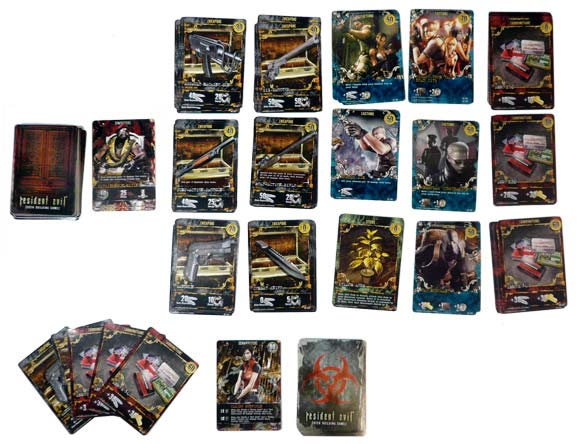 Resident Evil Deck Building Game components