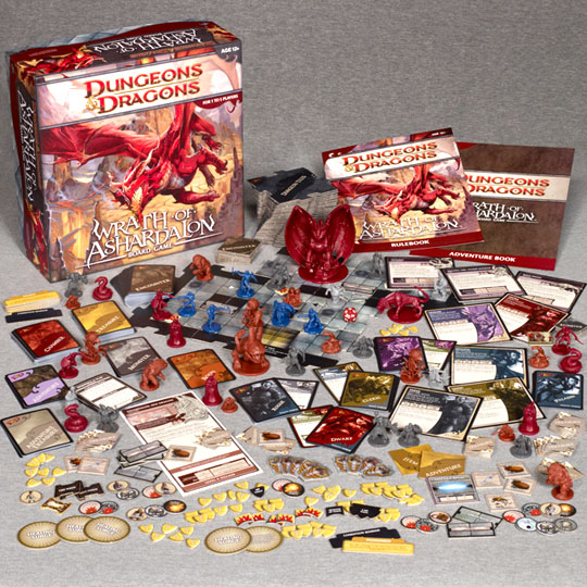 Dungeons and Dragons: Wrath of Ashardalon components