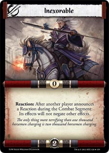 Legend of the Five Rings - Embers of War Inexorable card