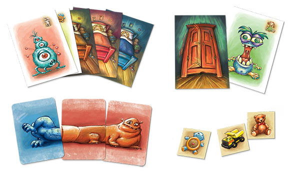 Monster Chase game cards and tokens