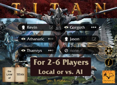 Titan game creation screen