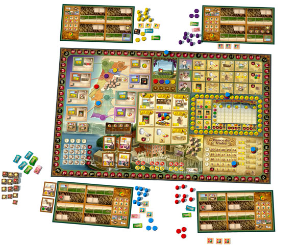 Vinhos board game components