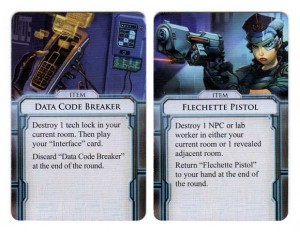 Infiltration item cards