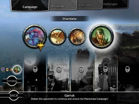 Magic 2013 iPad game select screen