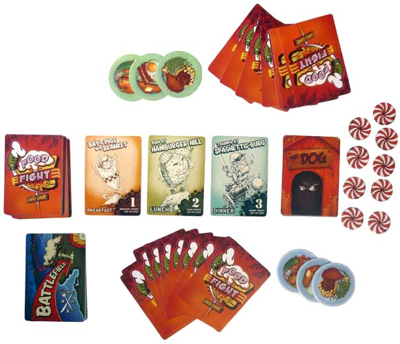 Food Fight card game components