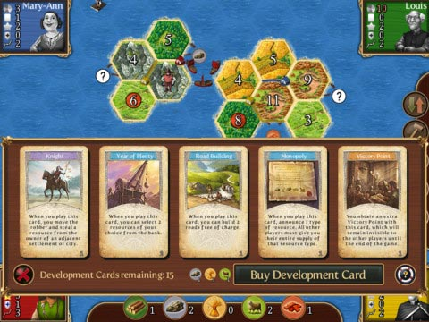 Catan card view