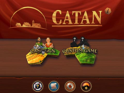 Catan home screen