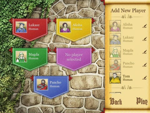 Caylus game creation screen