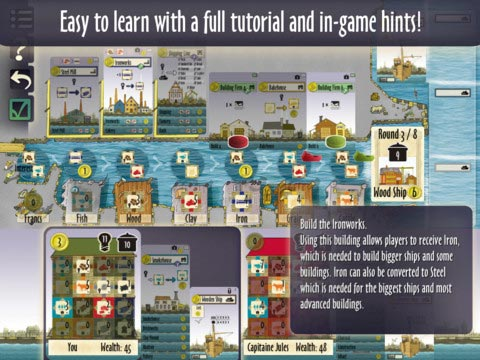 Le Havre tutorial screen