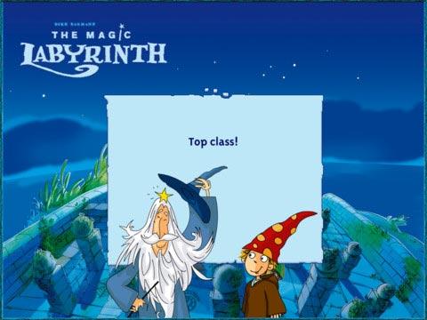 The Magic Labyrinth win screen