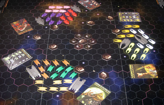 Battle Beyond Space game in play