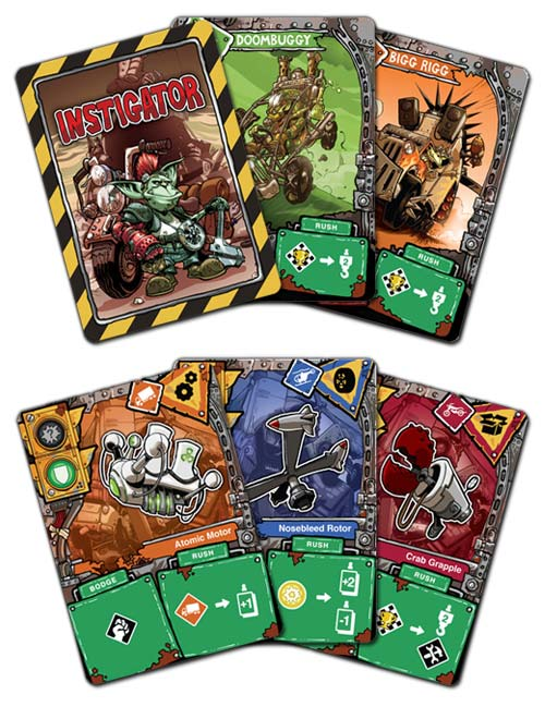 Heap card game cards