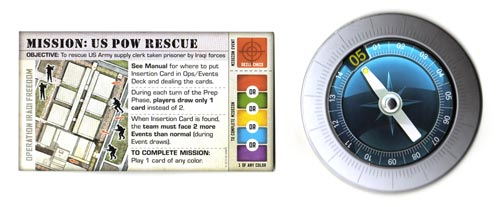 Hooyah mission card and timer