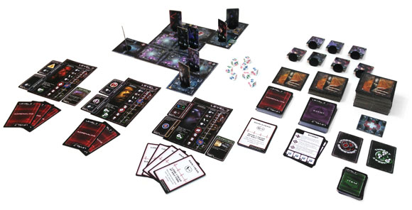 Level 7 board game in play