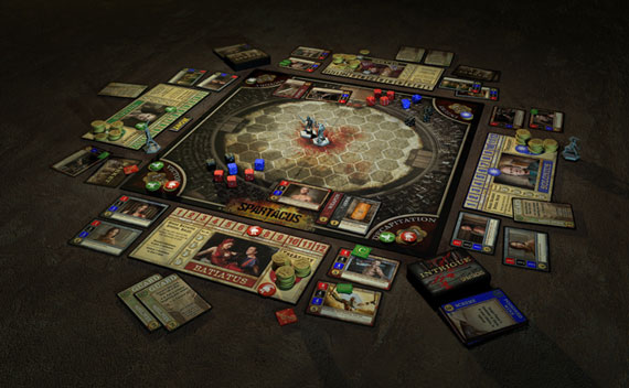 Spartacus board game play