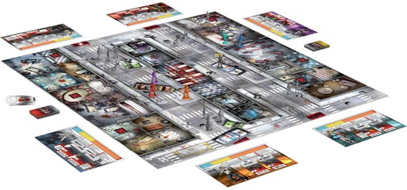 Zombicide game in play