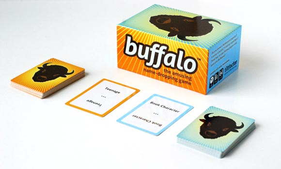 buffalo card and party game in play