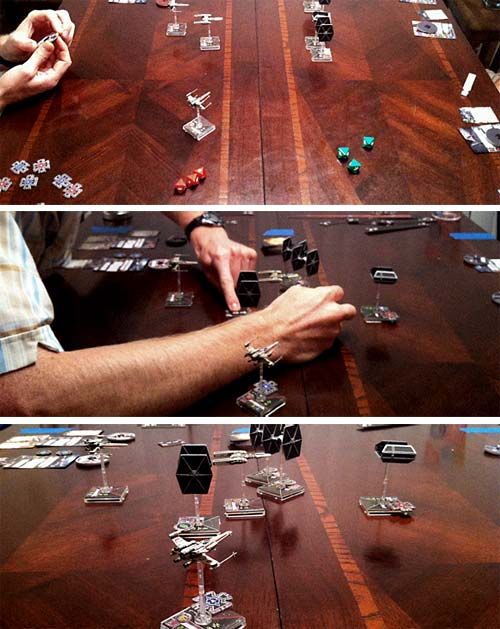 Trying out Fantasy Flight's Miniatures game X-Wing