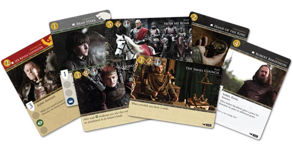 Game of Thrones: The Card Game sample cards 1