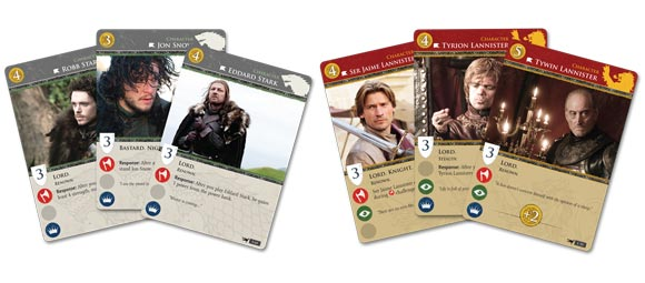 Game of Thrones: The Card Game sample cards 2