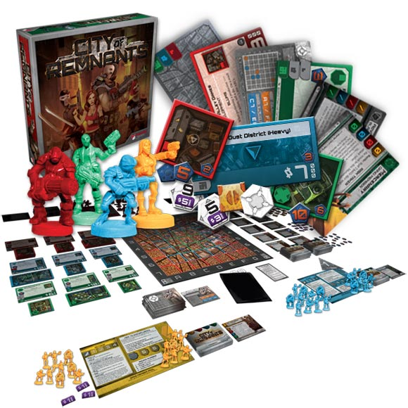 City of Remnants board game components