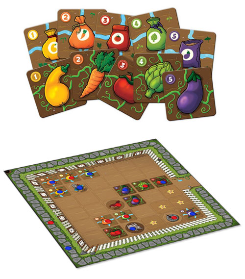 Garden Dice cards and board