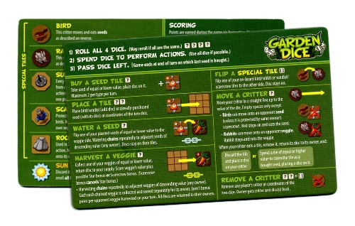 Garden Dice reference card