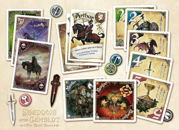 Shadows over Camelot: The Card Game components