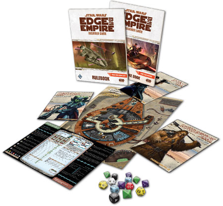 Star Wars: Edge of the Empire Beginner Game contents