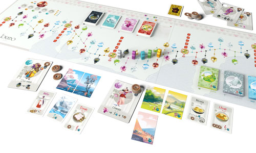 Tokaido game in play