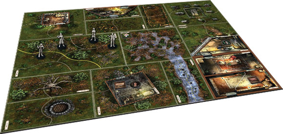 Mansions of Madness: Call of the Wild board layout