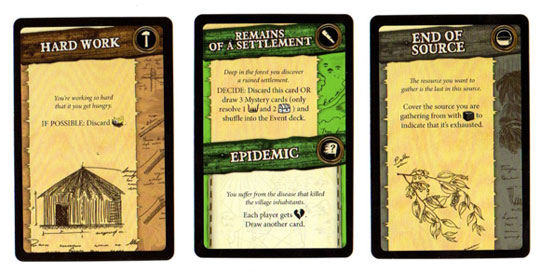 Robinson Crusoe adventure cards