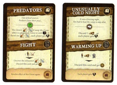 Robinson Crusoe event cards