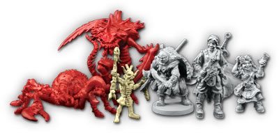 Descent Second Edition: Labyrinth of Ruin expansion figures