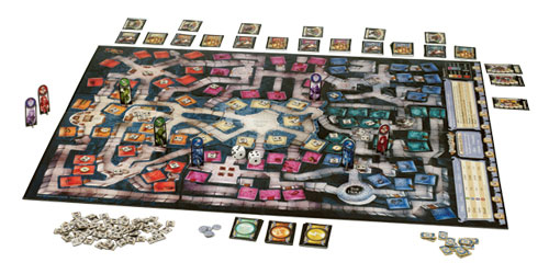 Dungeon! game in play