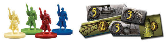 Gearworld board game components
