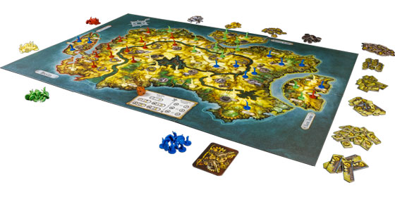 Gearworld board game in play