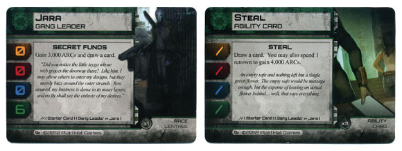 City of Remnants green gang cards