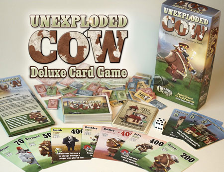 Unexploded Cow game components