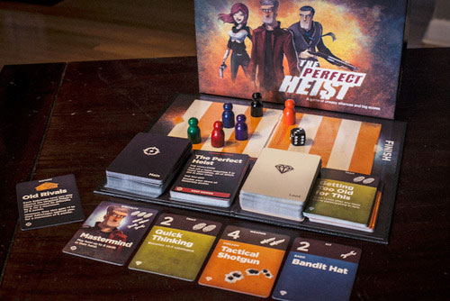 The Perfect Heist game components