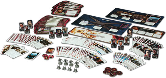 Battlestar Galactica Daybreak Expansion components
