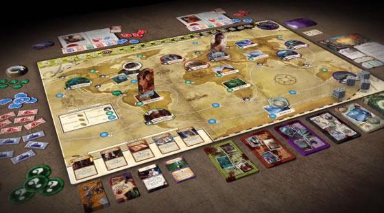 Eldritch Horror game in play