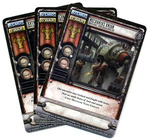 Warmachine: High Command resource cards