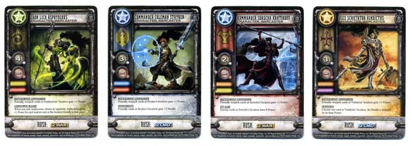 Warmachine: High Command warcaster cards