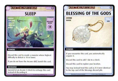 Pathfinder Adventure Card Game Blessing Spell cards