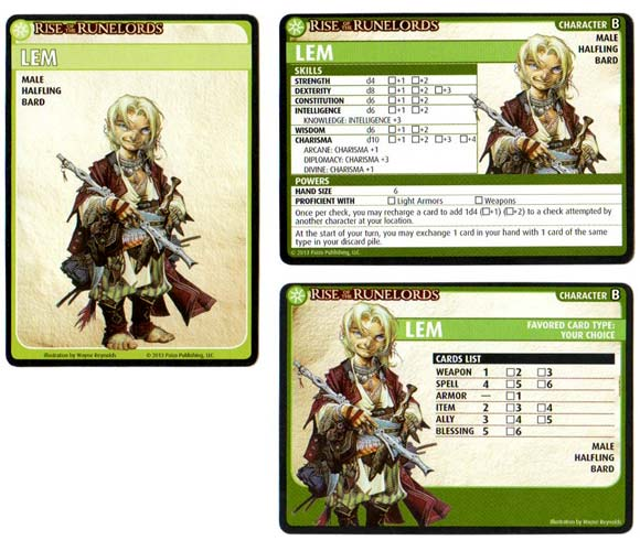 Pathfinder Adventure Card Game Character cards
