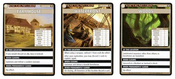 Pathfinder Adventure Card Game Location cards