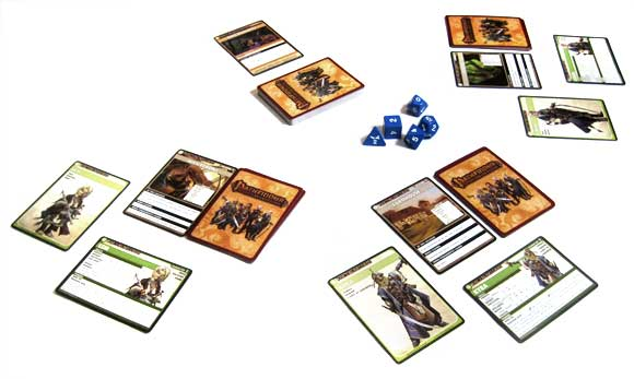 Pathfinder Adventure Card Game in play