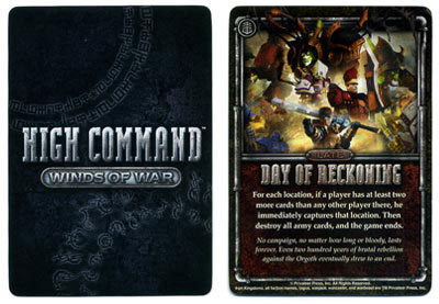 Warmachine: High Command Day of Reckoning