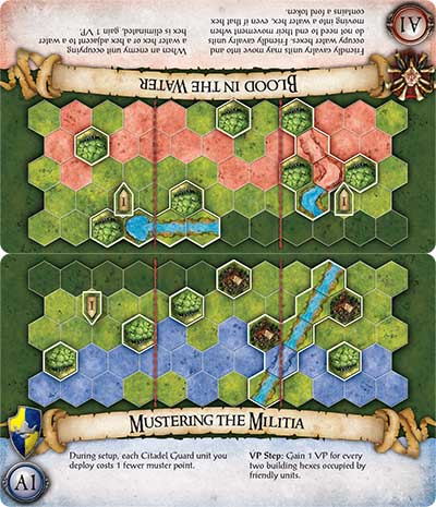 BattleLore Second Edition board game scenario cards